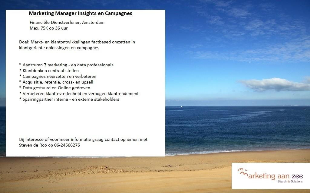 Marketing Manager Insights en Campagnes